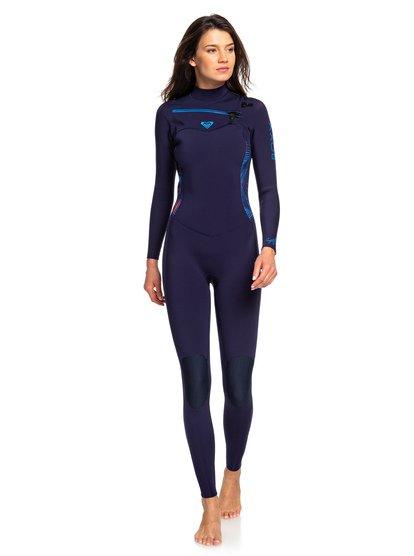 5/4/3mm Syncro - Traje de Surf GBS con Cremallera en el Pecho para Mujer - Azul - Roxy