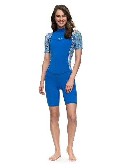 2/2mm Syncro Series - Springsuit à manches courtes avec zip dans le dos pour Femme - Bleu - Roxy