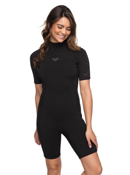 2/2mm Syncro Series - Springsuit à manches courtes avec zip dans le dos pour Femme - Noir - Roxy
