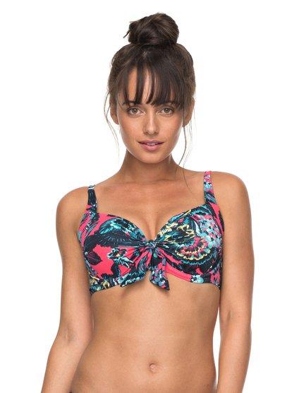 Salty ROXY - Sujetador de Bikini D-Cup para Mujer - Multicolor - Roxy