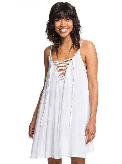 Softly Love - Vestido de Tiras para Mujer - Blanco - Roxy