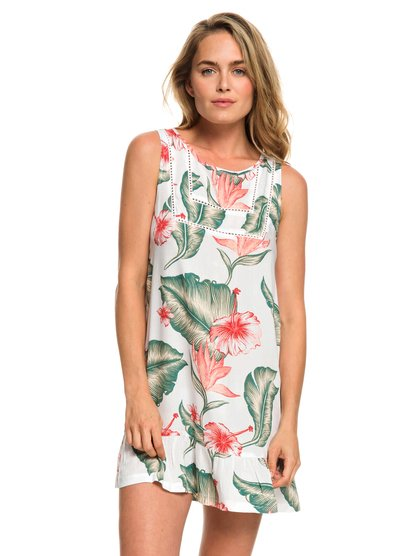 All About The Sea Dress - Vestido sin Mangas para Mujer - Blanco - Roxy