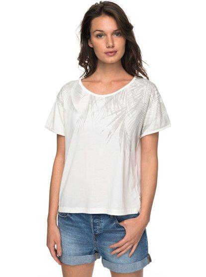 Cruz Life - Camiseta para Mujer - Blanco - Roxy