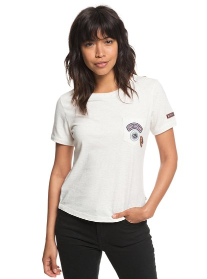 Frosty Garden - Camiseta con bolsillo para Mujer - Blanco - Roxy