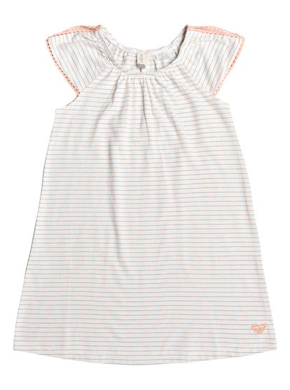 Missing You - Vestido de Manga Corta para Chicas 2-7 - Blanco - Roxy