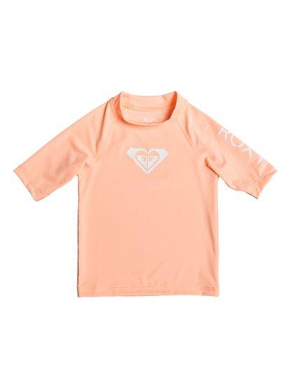 Whole Hearted - Licra de Manga Corta con Protección Solar UPF 50 para Chicas 2-7 - Rosa - Roxy