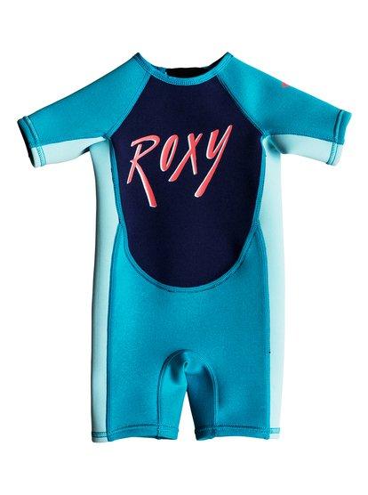 1.5mm Syncro - Traje de Surf de Primavera con Manga Corta y Cremallera en la Espalda para Bebés - Azul - Roxy