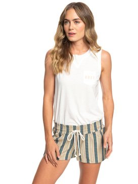 록시 Roxy Oceanside Beach Shorts,IVORY CREAM CARPENTER STRIPE (tfm3)