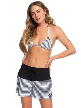 록시 Roxy Beach Classics 5 Boardshorts,ANTHRACITE S MARINA STRIPES (kvj4)