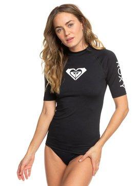 록시 반팔 래쉬가드 Roxy Whole Hearted Short Sleeve UPF 50 Rash Guard,ANTHRACITE (kvj0)