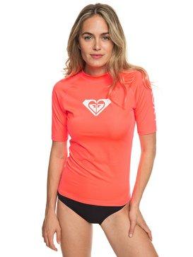 록시 반팔 래쉬가드 하트 코랄 Roxy Whole Hearted Short Sleeve UPF 50 Rash Guard,FIERY CORAL (mkz0)