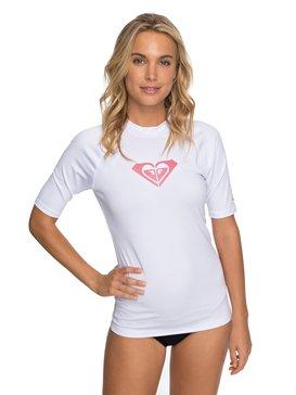록시 반팔 래쉬가드 하트 화이트 Roxy Whole Hearted Short Sleeve UPF 50 Rash Guard,WHITE (wbb0)