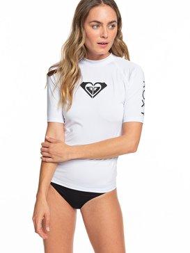 록시 하트로고 긴팔 래쉬가드 (UPF 50) Roxy Whole Hearted Short Sleeve UPF 50 Rash Guard,WHITE