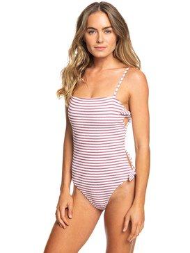 록시 원피스 수영복 체이싱 러브 스트라이프 Roxy Chasing Love One-Piece Swimsuit,BRIGHT WHITE (wbb0)