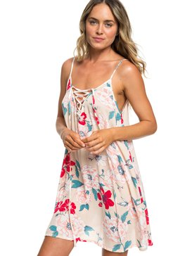 록시 Roxy Softly Love Strappy Beach Dress,IVORY CREAM S NEW FLOWERS (tfm7)