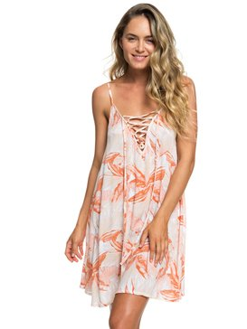 록시 Roxy Softly Love Strappy Beach Dress,BRIGHT WHITE JUNGLE BOOGIE (wbb9)