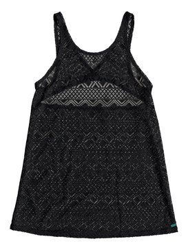 록시 Roxy Garden Summers Crochet Beach Dress,TRUE BLACK (kvj0)