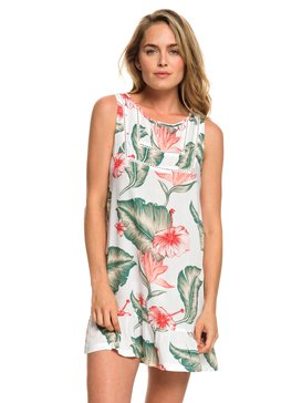 록시 Roxy All About The Sea Dress Tank Dress,BRIGHT WHITE TROPICAL LOVE SWI (wbb7)