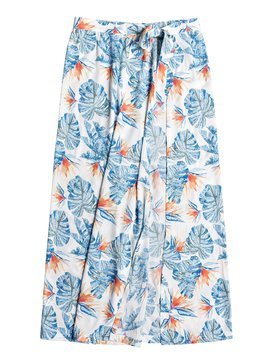 록시 Roxy Free As Waves Maxi Wrap Skirt,BRIGHT WHITE MIDNIGHT PARADISE (wbb1)