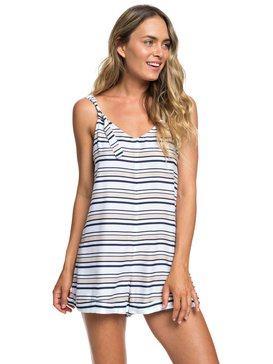 록시 Roxy Cutty Heart Strappy Romper,BRIGHT WHITE S POOL STRIPES (wbb5)
