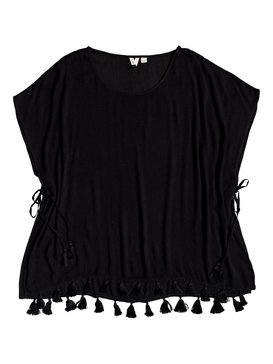 록시 Roxy Make Your Soul Poncho Beach Dress,ANTHRACITE (kvj0)