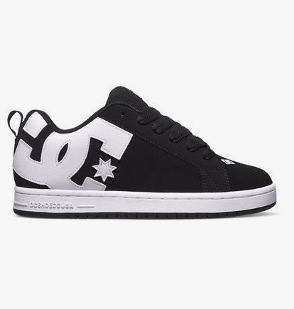 Sneaker DC Shoes Court Graffik - Zapatillas de Cuero para Hombre - Negro - DC Shoes