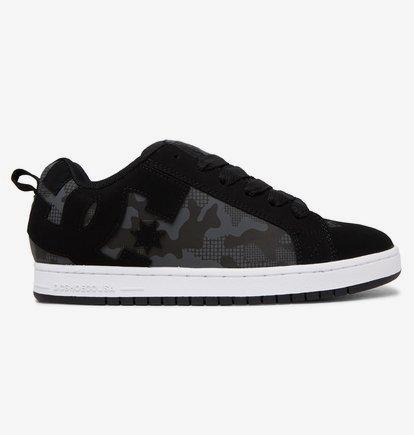 Sneaker DC Shoes Court Graffik - Zapatillas de Cuero para Hombre - Gris - DC Shoes