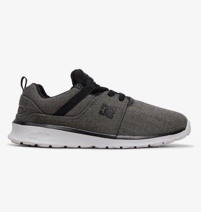 Sneaker DC Shoes Heathrow TX SE - Zapatillas con Cordones Elásticos para Chicos - Gris - DC Shoes
