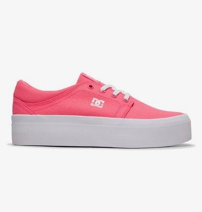 Sneaker DC Shoes Women's Trase Platform TX Flatform Shoes - Rosa - DC Shoes