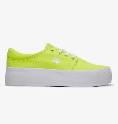 Sneaker DC Shoes Women's Trase Platform TX Flatform Shoes - Amarillo - DC Shoes