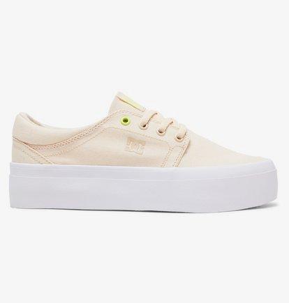 Sneaker DC Shoes Women's Trase Platform TX Flatform Shoes - Beige - DC Shoes