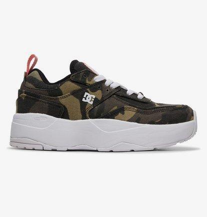 Sneaker DC Shoes E.Tribeka Platform TX - Zapatillas con Plataforma para Mujer - Gris - DC Shoes