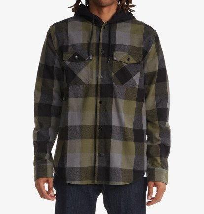 Clothing & Accessories Ruckus Ed - Long Sleeve Hooded Shirt for Men - Green - DC Shoes