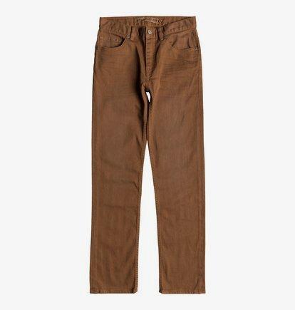 Sumner - Jean coupe droite pour Garçon 8-16 ans - Orange - DC Shoes