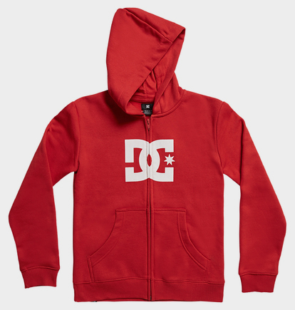 Star - Sweat à capuche zippé pour Garçon 8-16 ans - Rouge - DC Shoes