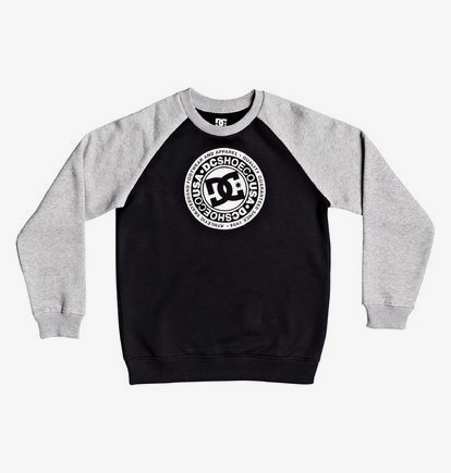 Circle Star - Sweatshirt pour Garçon 8-16 ans - Black/Grey Heather/Snow White - DC Shoes