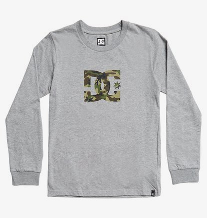 Star - T-shirt manches longues pour Garçon 8-16 ans - Gris - DC Shoes