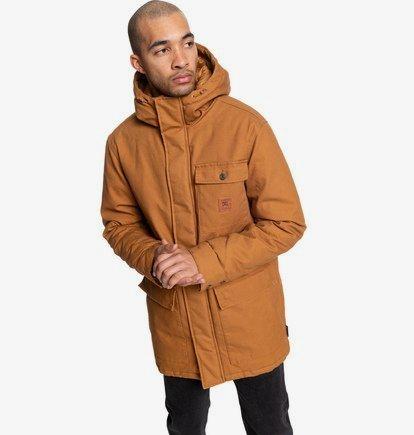 Canongate - Parka à capuche déperlante workwear pour Homme - Orange - DC Shoes