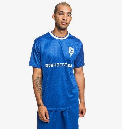 Wicksey - Haut manches courtes type maillot de football pour Homme - Bleu - DC Shoes