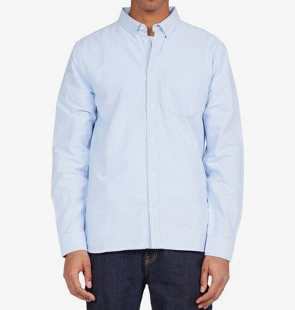 Clothing & Accessories Oxford - Long Sleeve Shirt for Men - Blue - DC Shoes