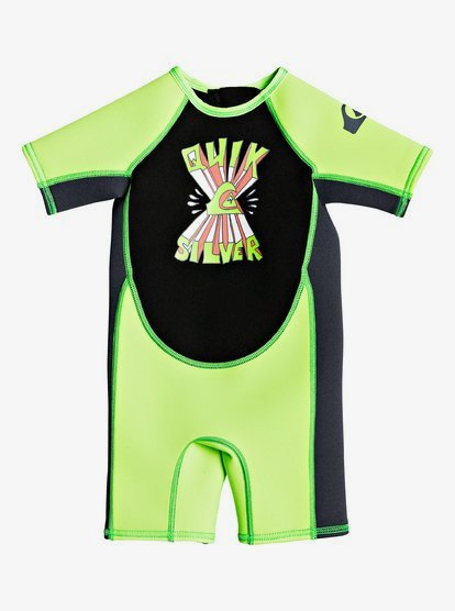 1.5mm Syncro - Short Sleeve Springsuit for Toddlers - Green - Quiksilver