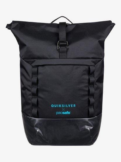 Pacsafe X QS 30L - Grand sac à dos étanche antivol - Noir - Quiksilver