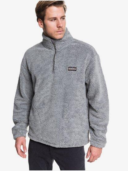 Bogong Gum - Polaire demi-zip en matière sherpa texturée pour Homme - Noir - Quiksilver