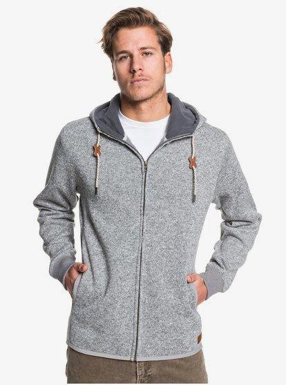 Keller Zip - Sweat à capuche zippé molletonné pour Homme - Noir - Quiksilver