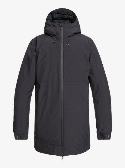 Cordova - Veste à capuche imperméable longue et pliable pour Homme - Noir - Quiksilver