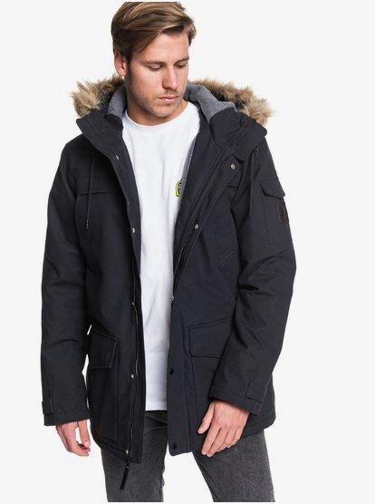Storm Drop 5K - Parka à capuche en toile imperméable pour Homme - Noir - Quiksilver