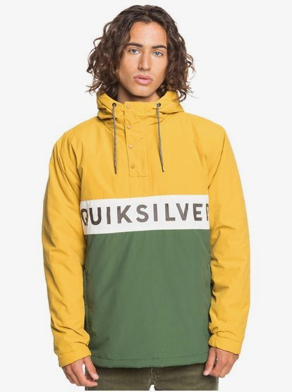 New-Tazawa-WaterResistant-Hooded-Anorak-for-Men-Yellow-Quiksilver