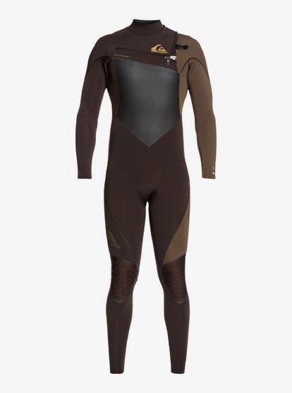 4/3mm Highline Plus - Combinaison zip poitrine pour Homme - Marron - Quiksilver