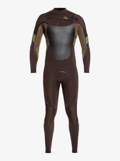 4/3mm Syncro Plus - Combinaison zip poitrine pour Homme - Marron - Quiksilver