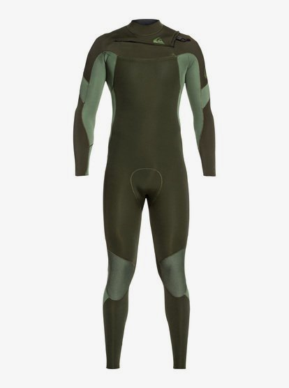 3/2mm Syncro - Combinaison GBS zip poitrine pour Homme - Marron - Quiksilver